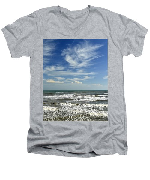 The Gulf Of Mexico From Galveston Men's V-Neck T-Shirt