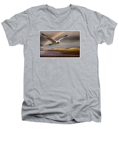 The Gull And The Rainbow Men's V-Neck T-Shirt