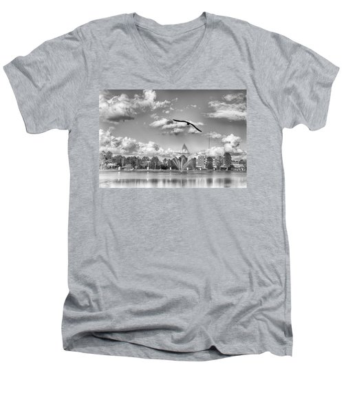 Men's V-Neck T-Shirt featuring the photograph The Gull by Howard Salmon