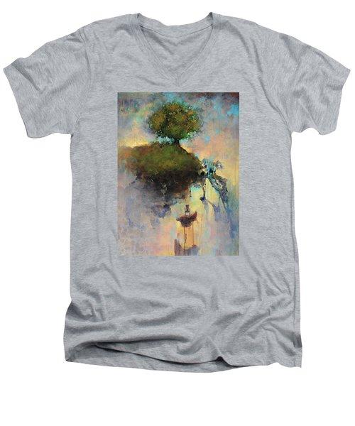 The Hiding Place Men's V-Neck T-Shirt by Joshua Smith