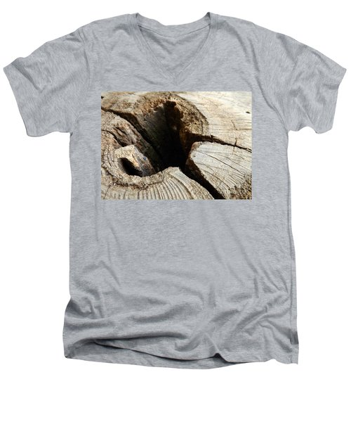 The Hole Men's V-Neck T-Shirt by Clare Bevan