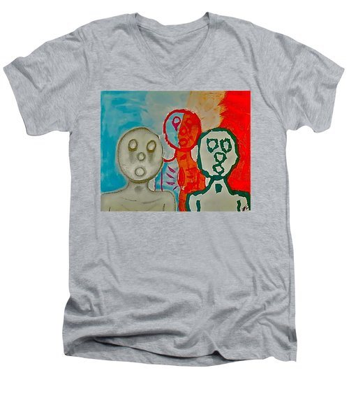 The Hollow Men 88 - Study Of Three Men's V-Neck T-Shirt