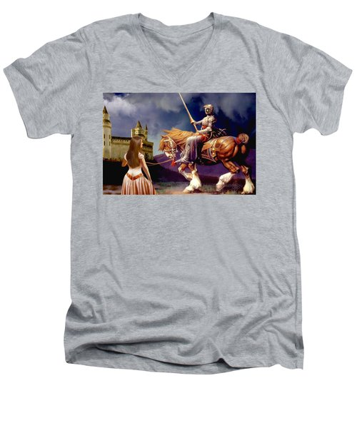 The Homecoming Men's V-Neck T-Shirt by Ron Chambers