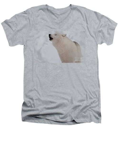 Men's V-Neck T-Shirt featuring the photograph The Howler by Bianca Nadeau