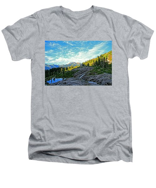 Men's V-Neck T-Shirt featuring the photograph The Hut. by Eti Reid