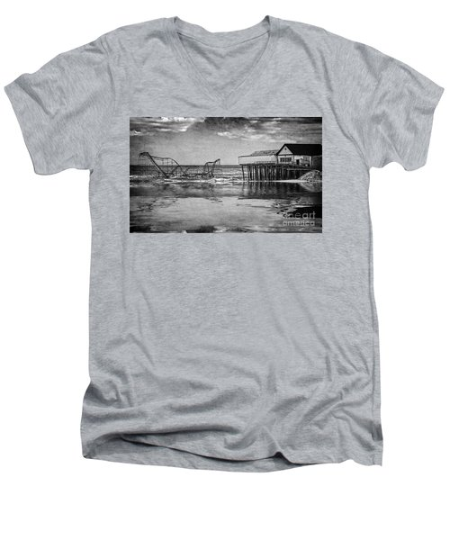 Men's V-Neck T-Shirt featuring the photograph The Jetstar by Debra Fedchin