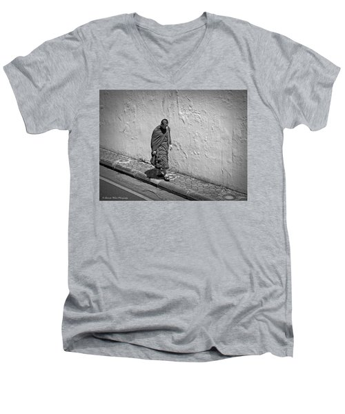 Men's V-Neck T-Shirt featuring the photograph The Journey  by Lucinda Walter