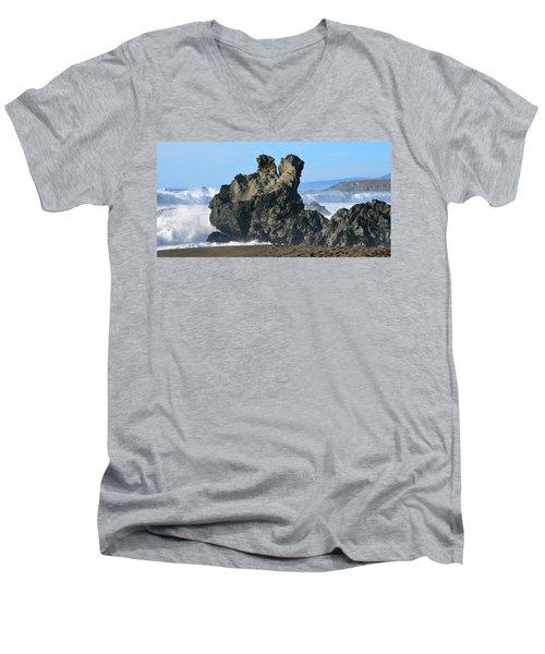 The Kissing Rocks Men's V-Neck T-Shirt