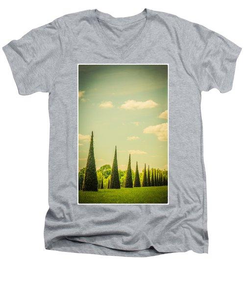 The Knot Garden's Triangular Landscaping Men's V-Neck T-Shirt