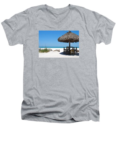 Men's V-Neck T-Shirt featuring the photograph The Kokonut Hut  by Margie Amberge