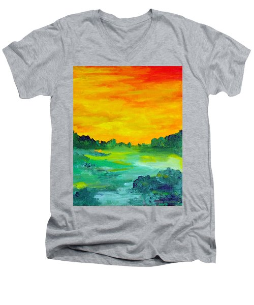 The  Lagoon Men's V-Neck T-Shirt