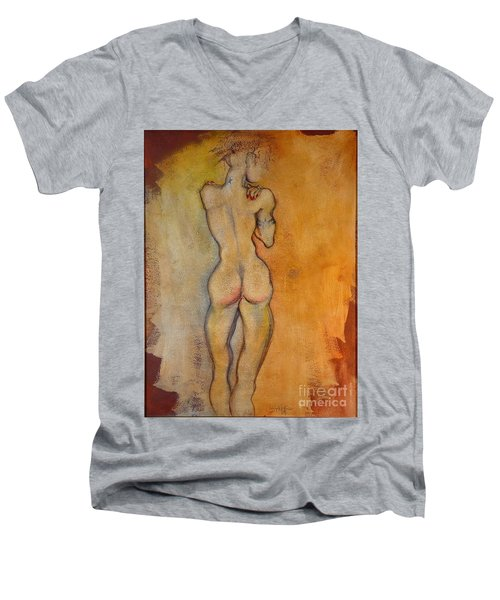 The Last Of The Three Wise Men Men's V-Neck T-Shirt by Carolyn Weltman