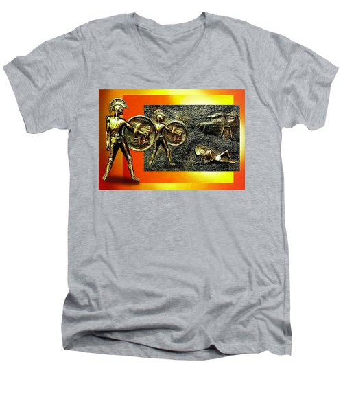 The Legends Of Troy. . .  Men's V-Neck T-Shirt by Hartmut Jager