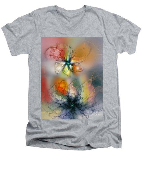 The Lightness Of Being-abstract Art Men's V-Neck T-Shirt