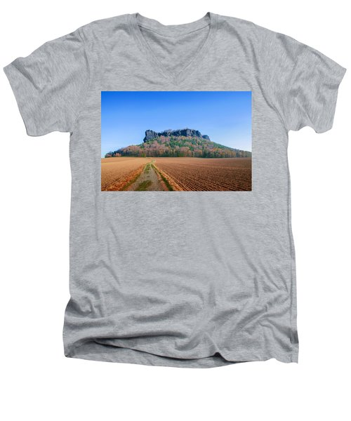 The Lilienstein On An Autumn Morning Men's V-Neck T-Shirt