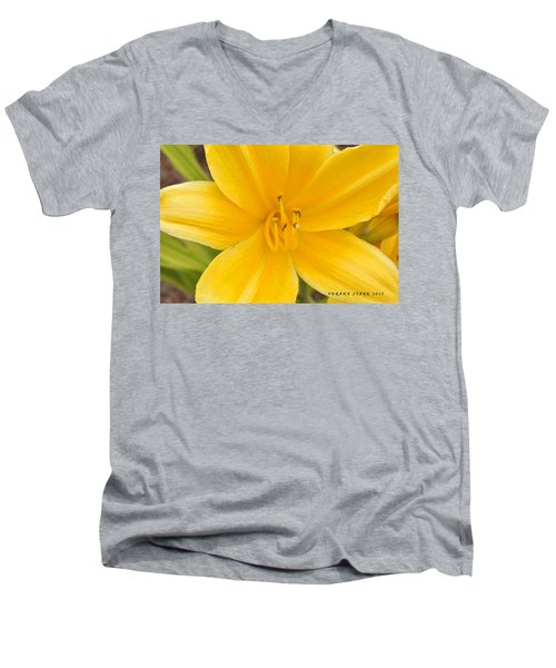 Men's V-Neck T-Shirt featuring the photograph The Lily From Kentucky by Verana Stark
