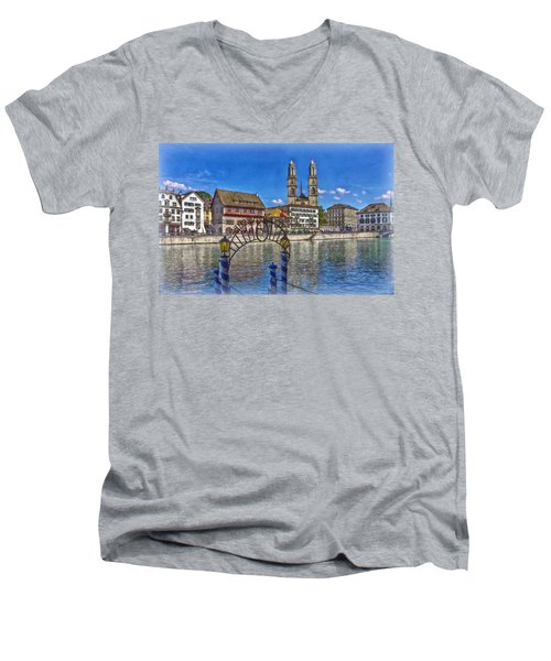 The Limmat City Men's V-Neck T-Shirt