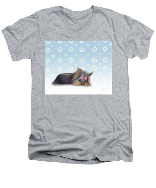 The Little Thinker  Men's V-Neck T-Shirt