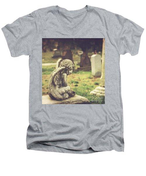 The Littlest Angel Men's V-Neck T-Shirt