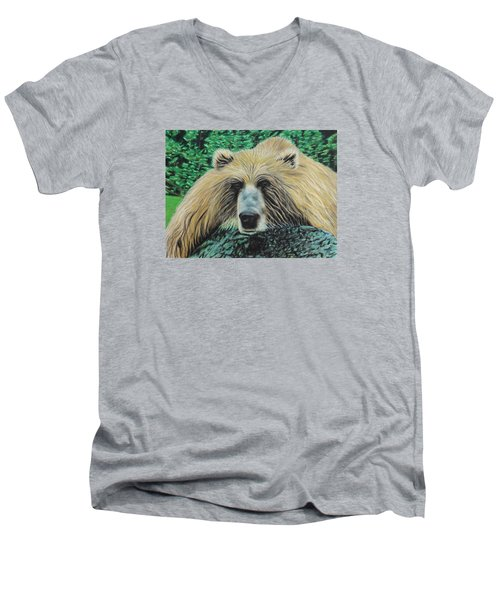 The Look Men's V-Neck T-Shirt by Jeanne Fischer
