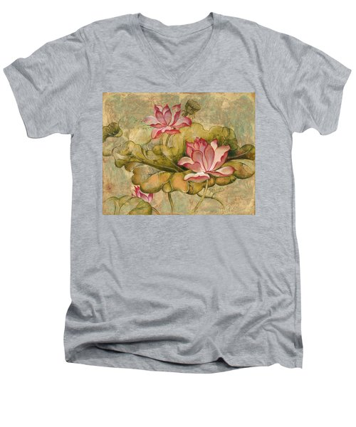 The Lotus Family Men's V-Neck T-Shirt