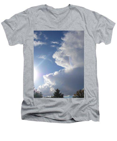 Men's V-Neck T-Shirt featuring the photograph Rainbow Tears by Deborah Moen
