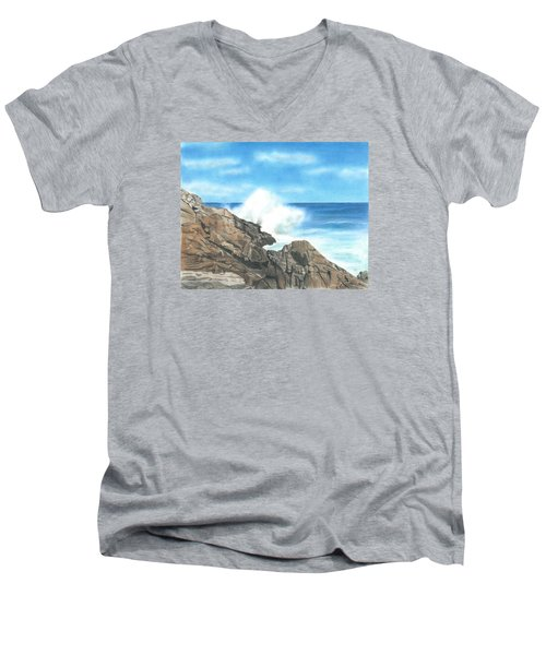 The Marginal Way Men's V-Neck T-Shirt by Troy Levesque