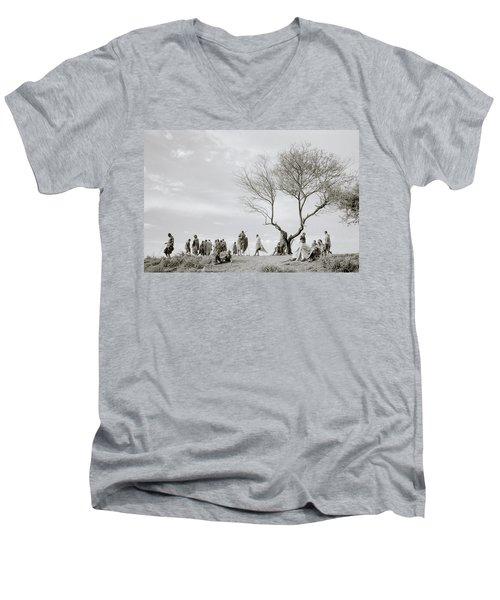 The Meeting Men's V-Neck T-Shirt by Shaun Higson