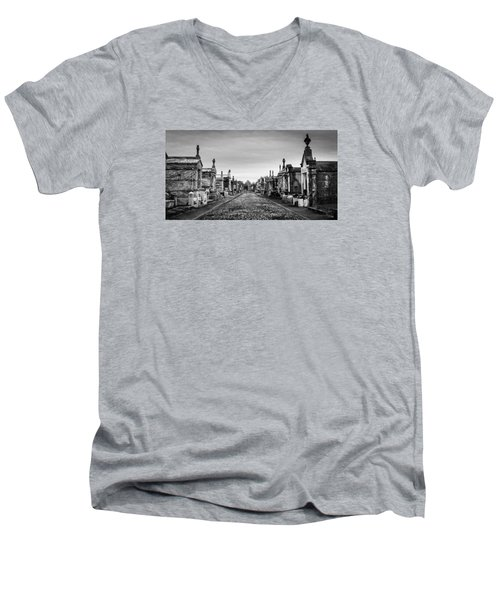 Men's V-Neck T-Shirt featuring the photograph The Metairie Cemetery by Tim Stanley