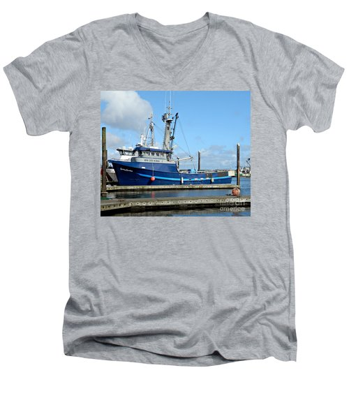 The Mighty Blue Men's V-Neck T-Shirt