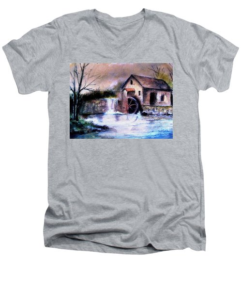 The Millstream Men's V-Neck T-Shirt by Hazel Holland