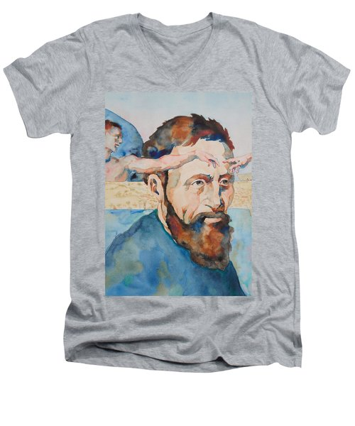 The Mind Of Michelangelo Men's V-Neck T-Shirt by Michele Myers