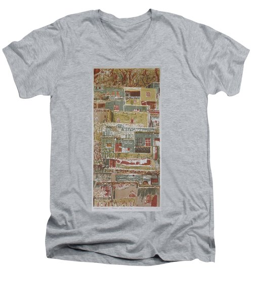The Mountain Village Men's V-Neck T-Shirt