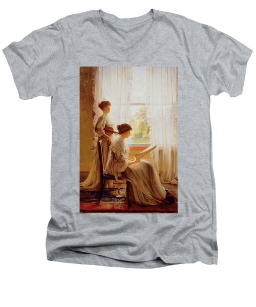 The Music Lesson, C.1890 Men's V-Neck T-Shirt