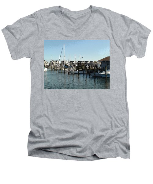 At Kent Narrows Men's V-Neck T-Shirt