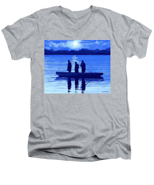 The Night Fishermen Men's V-Neck T-Shirt