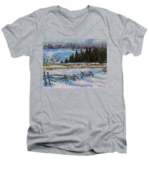 The Ninth Line Men's V-Neck T-Shirt