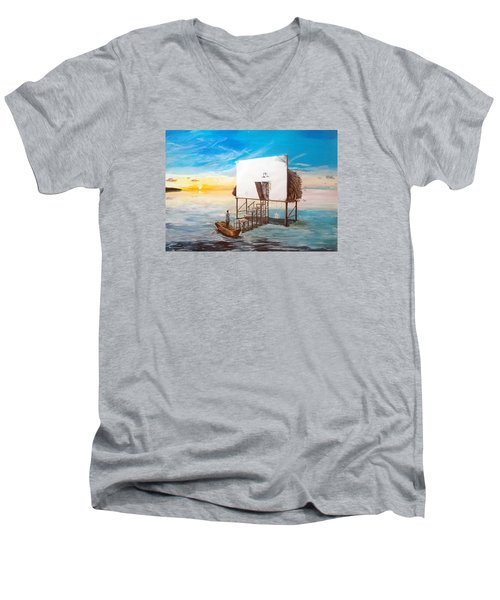 The Occult Listen With Music Of The Description Box Men's V-Neck T-Shirt by Lazaro Hurtado