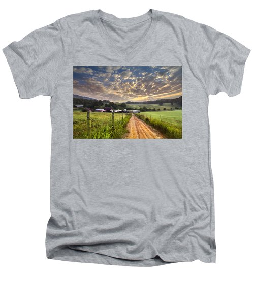 The Old Farm Lane Men's V-Neck T-Shirt
