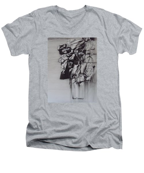 The Old Man Of The Mountain Men's V-Neck T-Shirt by Sean Connolly