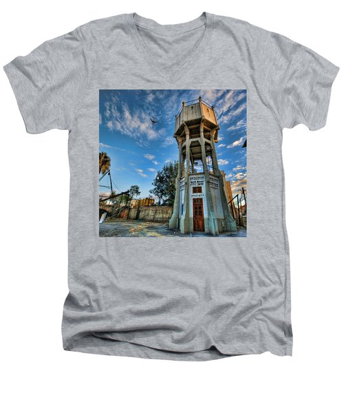 The Old Water Tower Of Tel Aviv Men's V-Neck T-Shirt