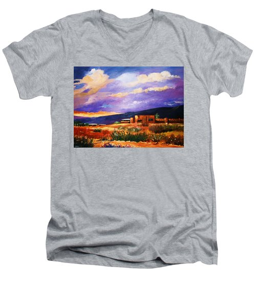 The Orange Glow Of Sunset Men's V-Neck T-Shirt