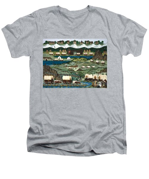 The Oregon Trail Men's V-Neck T-Shirt
