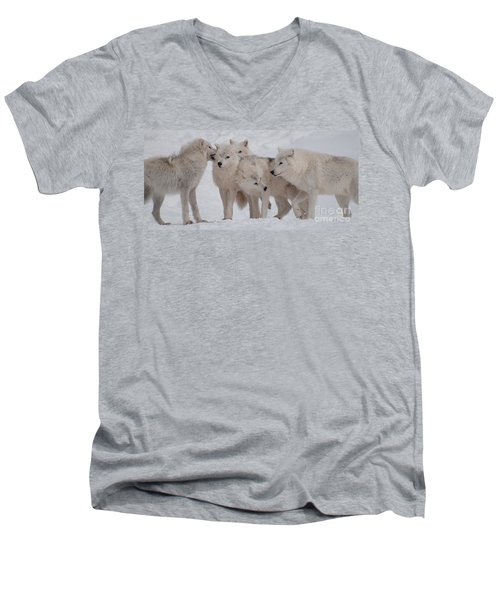Men's V-Neck T-Shirt featuring the photograph The Pack by Bianca Nadeau