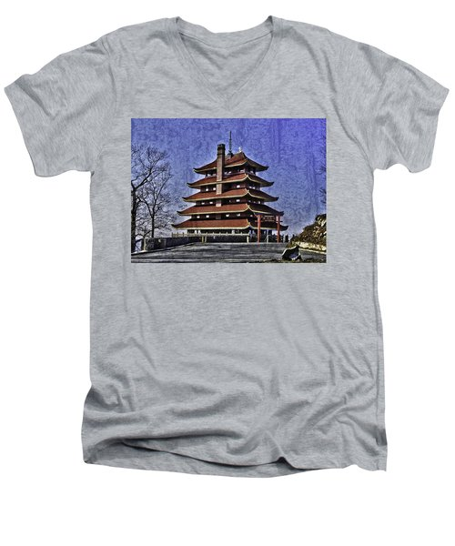 The Pagoda Men's V-Neck T-Shirt