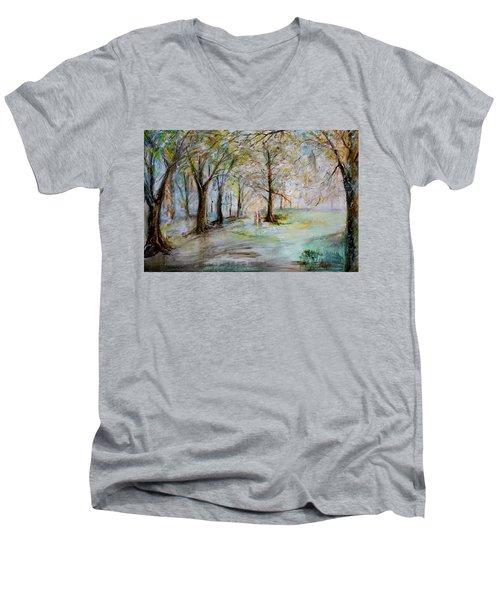 The Park Bench Men's V-Neck T-Shirt
