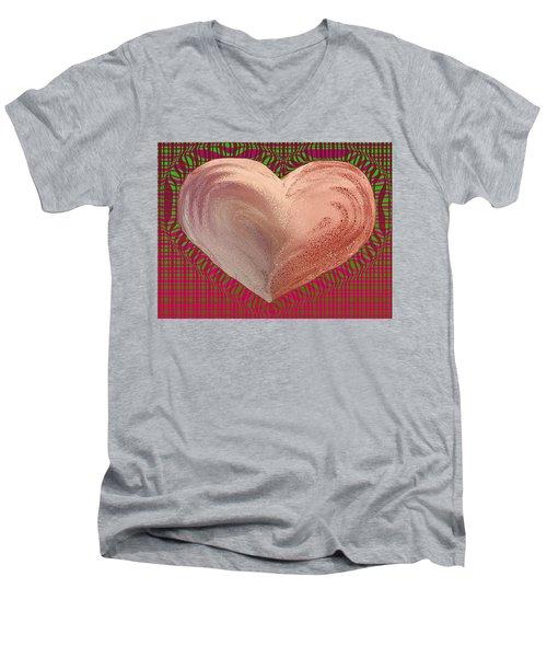 The Passionate Heart Men's V-Neck T-Shirt by David Pantuso
