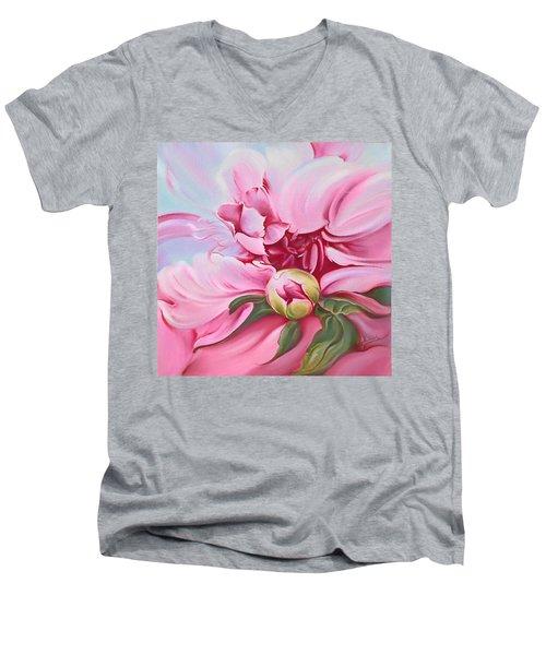 The Peony Men's V-Neck T-Shirt