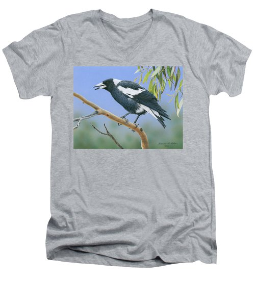 The Pied Piper - Australian Magpie Men's V-Neck T-Shirt
