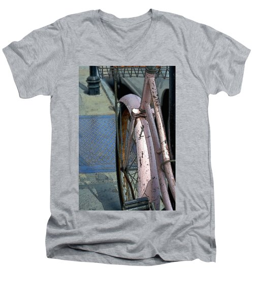 The Pink Bicyclette Men's V-Neck T-Shirt